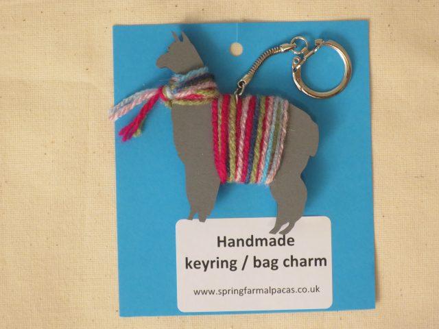 alpaca key ring handmade