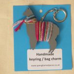 alpaca key ring handmade