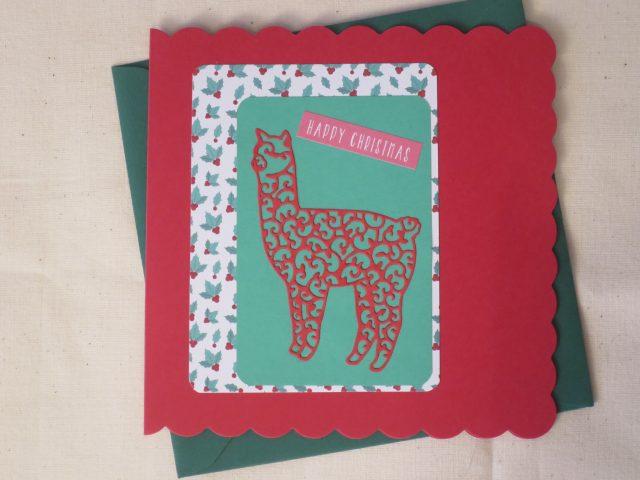 handmade alpaca christmas card