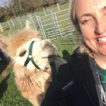 Christy and Rillian alpaca selfie